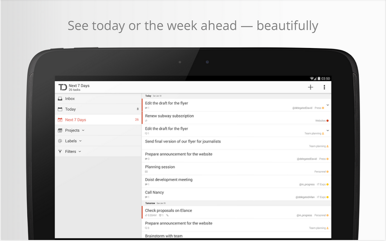 5 Best To-Do List Managers for Android - Todoist