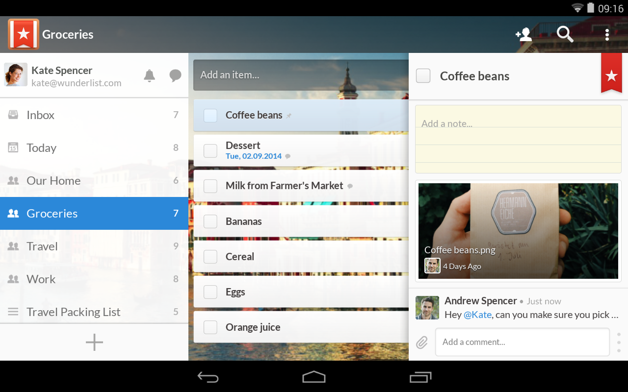 5 Best To-Do List Managers for Android - Wunderlist